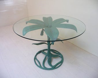 Arthur Court Lily Dining Table Mid Century Modern Patio