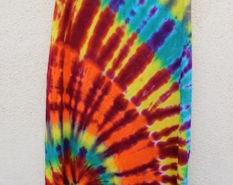 Tie Dye Spiral Maxi Skirt
