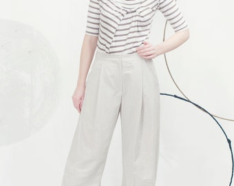 Art 31/17 Pantalone Pigna. Sartorial, Made in Italy, Handmade, Atelier, Summer, Everyday, Wide leg, Trousers, Pence