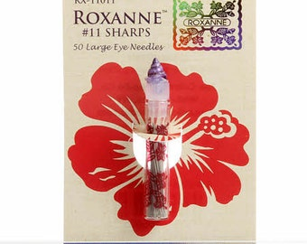Applique Needles, Sharps Needles, Colonial Needles - Roxanne, Size 11, Large Eye - Qty 50