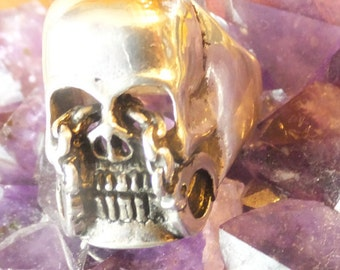 Sterling Skull Ring Size 10.5