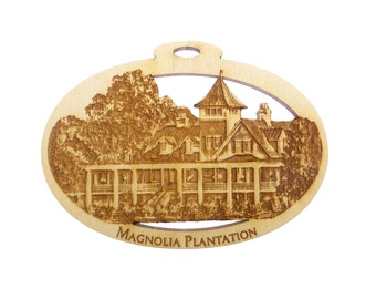 Magnolia Plantation Ornament - Magnolia Plantation Christmas Ornament - Magnolia Plantation Ornaments - Charleston, SC Souvenir