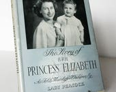 Queen, Princess Elizabeth picture book 1950s UK Royal family Royalty collectible Book Vintage Old retro