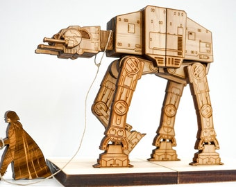 Bookend, AT-AT on a leash, StarWars, Book ends