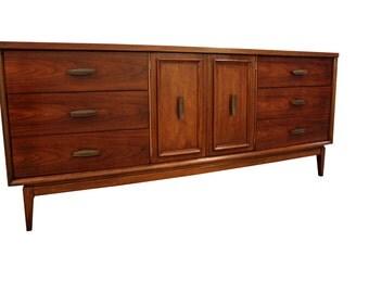 Mid-Century Danish Modern Walnut 2-Door Credenza/Dresser #74