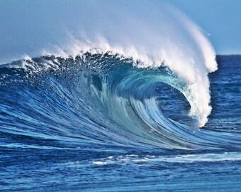 Ocean Photography - Wave Photos,  Surf Photo Print Hawaii Surfing Home Decor for the Beach House