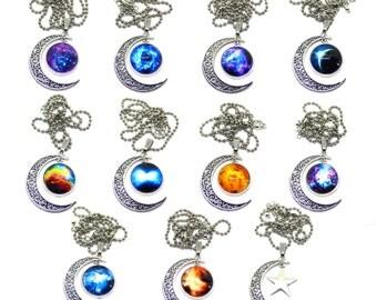 Galaxy cabochon necklace