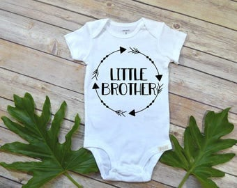 Little brother shirt, Tribal Arrows, Little Brother Announcement, Little Brother Reveal, Cute Boy Clothes, Baby Boy Clothes, Baby Boy Shirt,