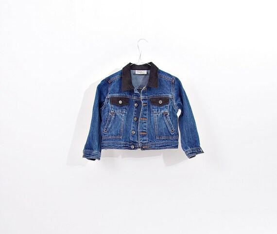 SALE - Power Kids Denim Trucker Jacket / Size 116 - 4/5 yo