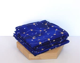 Constellation Handkerchief Fabric Cotton Zero Waste Natural Beauty Slow Cosmetique