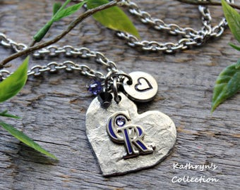 Colorado Rockies Necklace, Rockies Jewelry, Rockies Baseball