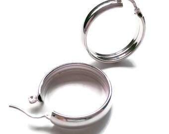 Sterling Silver Wide Hoops/Wide Hoop Earrings/Hinged Hoops/Polished Hoops/Wide Silver Hoop Earrings/On Trend Hoops/Statement Hoops