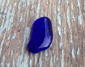 Small cobalt blue beach glass