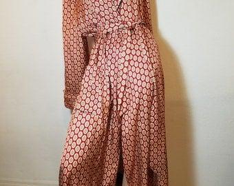 FREE  SHIPPING   1950 '' Stafford Robe '' Men Silk Robe