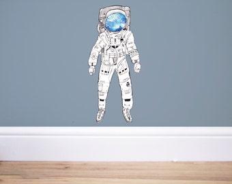 Spaceman Wall decal,Space wall decal,Space decor,nursery decor, space decor,spaceman sticker, astronaut sticker, astronaut decal,space art