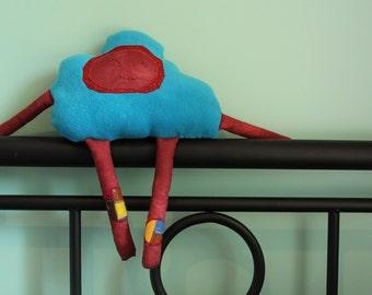 Plush Cloud Toy, Stuffed Toy Cloud, Blue Cloud Cushion, Plushie