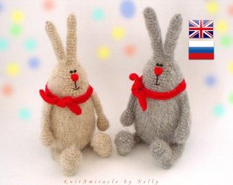Amigurumi bunny pattern Crochet toy pattern Crochet  pattern animal Toy Bunny DIY crochet Rabbit Doll making  Phil the Cheerful Bunny