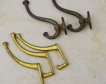 Lot of Antique and Vintage Large Hooks; Architectural Salvage Hardware, Reclaimed Supply