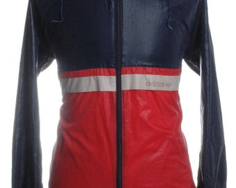 Vintage 1980's Adidas Hooded Windbreaker Jacket S - www.brickvintage.com