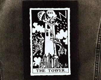 The Tower Tarot Card Patch