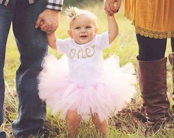 Baby Tutu - Flower Girl Tutu - Birthday Tutu - Child Tutu - Custom Tutu - First Birthday Outfit Girl - Cake Smash Tutu - Pink and Gold