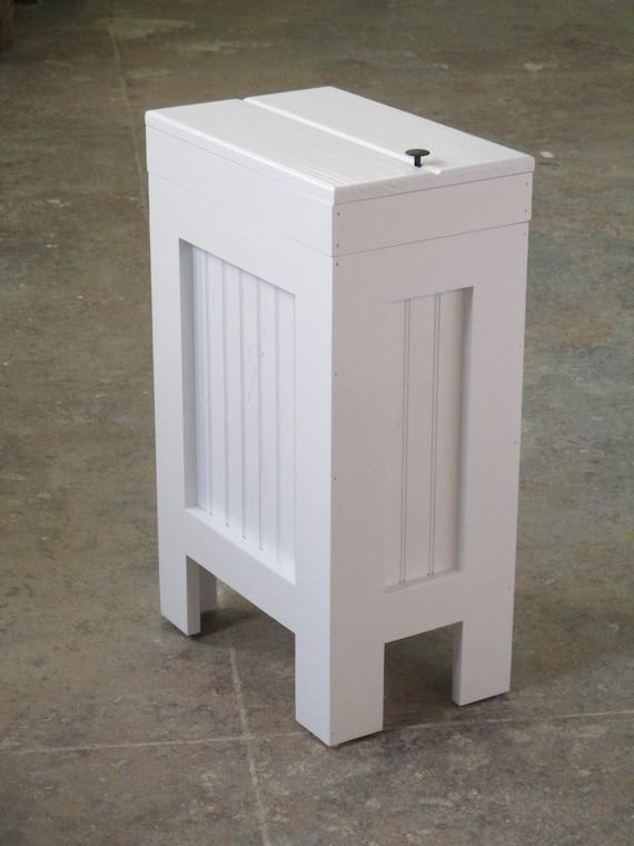 white wood trash bin kitchen garbage can wood trash candog. Black Bedroom Furniture Sets. Home Design Ideas