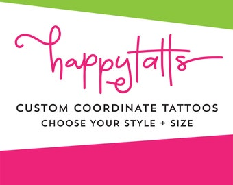 custom coordinates tattoos romantic valentines day temporary tattoos personalized number tattoos coordinate tattoo valentine gift for him