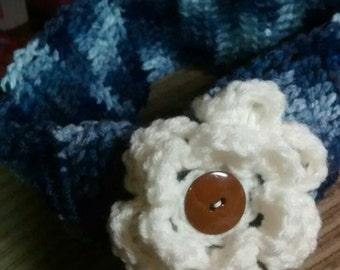 Earwarmer, earmuff, headband, flower headband, adult size, child size