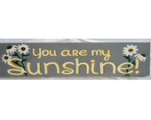 You are my sunshine, rustic wood sign, nursery sign, sunshine sign, home decor, hand painted, baby shower gift, girl's room, nursery decor