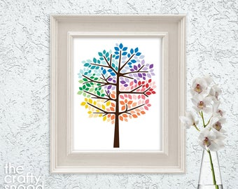 Rainbow Tree - Printable