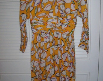 Vintage Adele Simpson SENSATIONAL Silk Dress. Size 8  See details