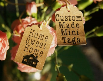 20 Home sweet Home, House Warming Gift tags, Recycled card tags, can be personalized, and made to order