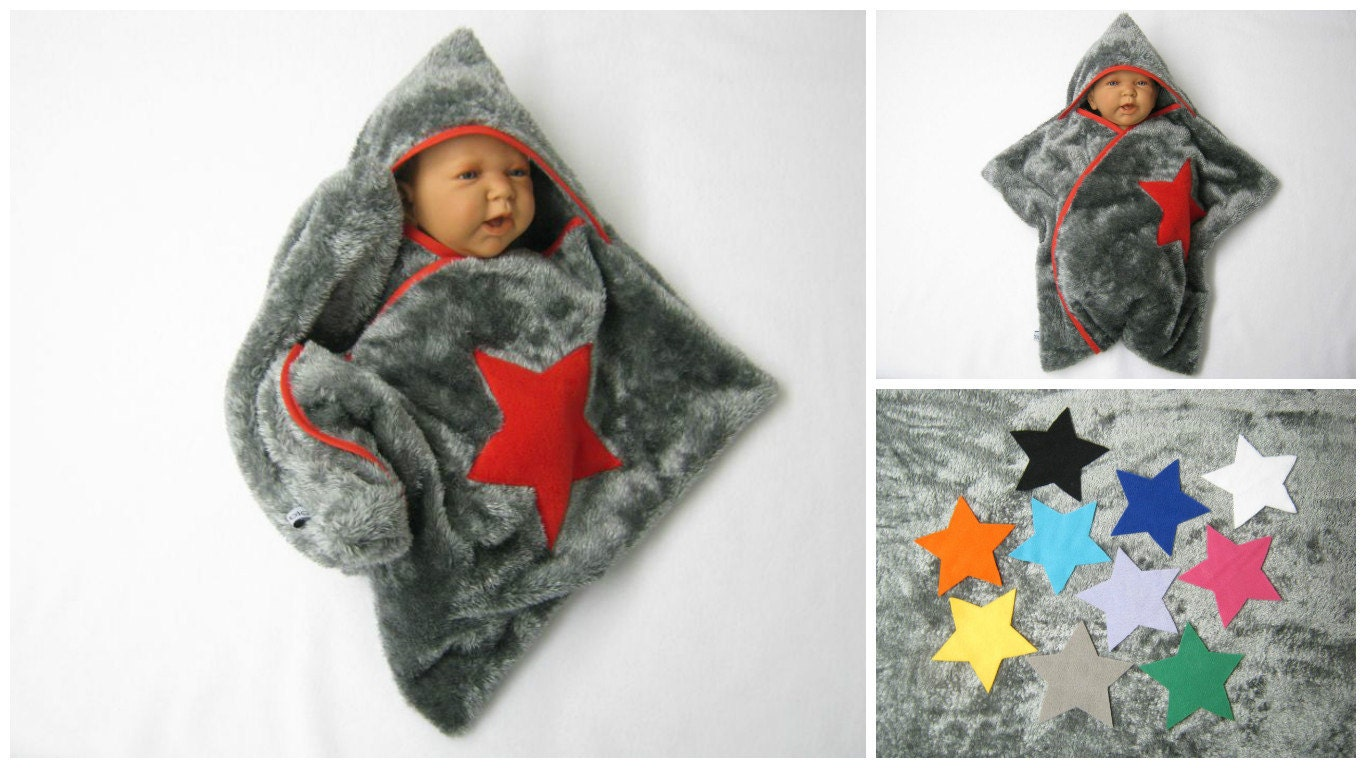 Star Fleece Baby Wrap Sleeping Bag Sleepsack Swaddle Footmuff Soft