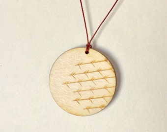 "Wooden Charm Necklace ""Twigs"" 