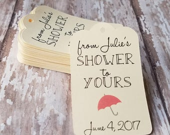 From my shower to yours, Bridal Shower Tag, Baby Shower Tag, Wedding Shower, Umbrella Tag, Sugar Scrub Tag, Baby Shower Favor, Bridal (152)