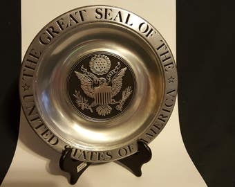 Pewter Plate The Great Seal of the United States of America Noble Metals Inc