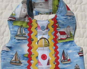 Small Dog Harness Vest Lighthouse