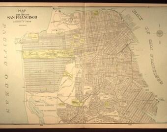 San Francisco Map San Francisco Street Map LARGE Early 1900s
