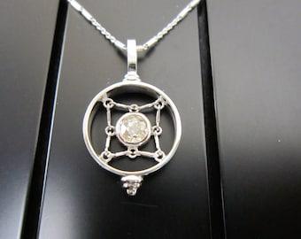 Vintage Microphone style diamond necklace