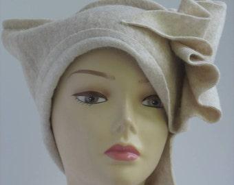 Hat womens beanie slouchy Hat Designer handmade boho hat festival beanie winter accessory womens  Unique Art hat Wearable Art