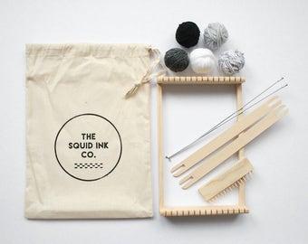 Weaving Loom Kit + Monochrome Wools
