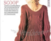 Knitting pattern  Womans Fashion Scoop smock sweater jumper dress tunic  Instant download