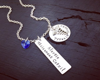 Medical Alert Necklace - Completely Customized | Medical Alert Jewelry | Medical Disease Condition | Medical Drug Allergy | Diagnosis Gift