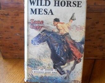 Wild Horse Mesa Hardback Book By Zane Grey 1924 Edition With Dust Jacket Free Shipping