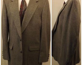 80s Hanover Gray Camel Hair Men's Sport Coat Size 40 L