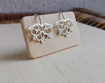 """Silver Handmade Mandala """"panqara"""" Earrings"""