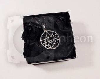 Necronomicon Pendant, 925 Silver