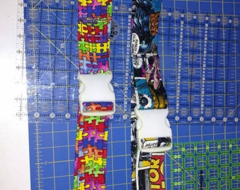 BOGO Custom wrapped gait belts with plastic or metal buckle