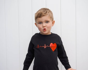 Toddler Valentines Shirt Toddler Boy Valentine Shirt Baby Valentine Shirt Heartbeat Kids Valentines Shirt Love Shirt Boy Valentines Shirt