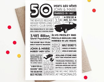 Personalized 50th Anniversary Card, 1967 Events